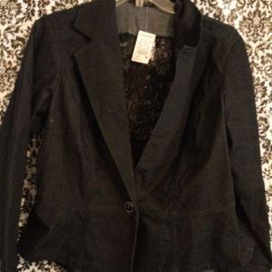 Women's denim black jacket